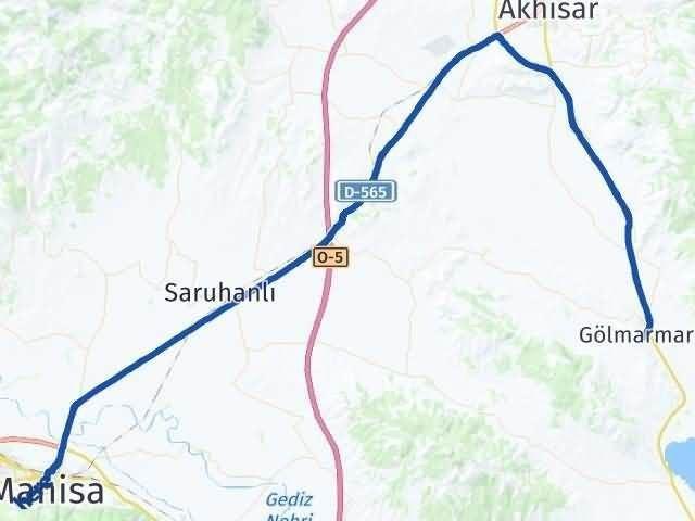 Manisa Gölmarmara Arası Kaç Km? Yol Haritası - Km Hesaplama Arası Kaç Km Saat? Nerede Yol Haritası Yakıt, Rota ve Mesafe Hesaplama