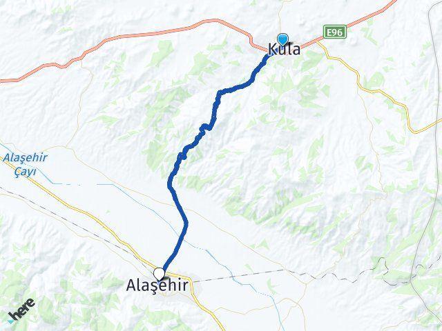 Manisa Kula Alaşehir Arası Kaç Km? Arası Kaç Km Saat? Nerede Yol Haritası Yakıt, Rota ve Mesafe Hesaplama
