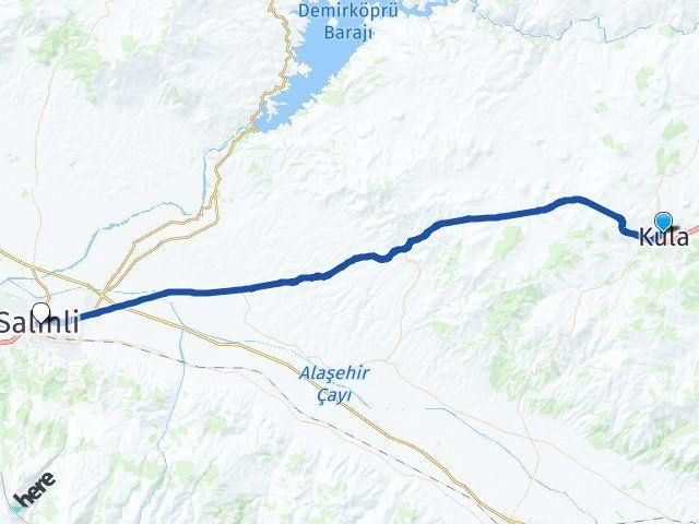 Manisa Kula Salihli Arası Kaç Km? Arası Kaç Km Saat? Nerede Yol Haritası Yakıt, Rota ve Mesafe Hesaplama
