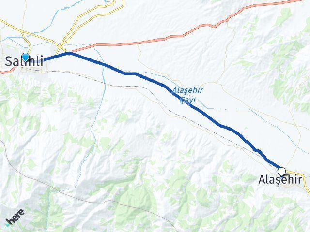 Manisa Salihli Alaşehir Arası Kaç Km? Arası Kaç Km Saat? Nerede Yol Haritası Yakıt, Rota ve Mesafe Hesaplama