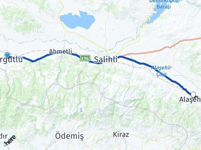 Manisa Turgutlu Alaşehir Arası Kaç Km? Arası Kaç Km Saat? Nerede Yol Haritası Yakıt, Rota ve Mesafe Hesaplama