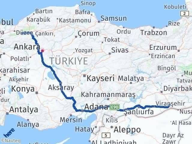 Mardin Bolu Arası Kaç Km - Kaç Saat? Arası Kaç Km Saat? Nerede Yol Haritası Yakıt, Rota ve Mesafe Hesaplama