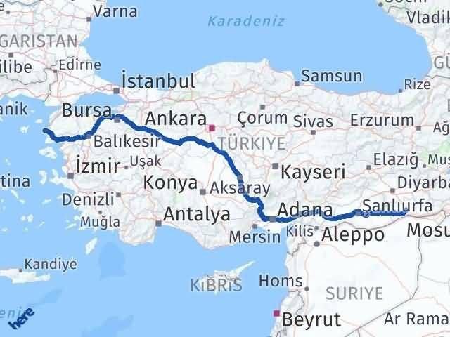Mardin Bozcaada Çanakkale Arası Kaç Km? - Kmhesaplama.com Arası Kaç Km Saat? Nerede Yol Haritası Yakıt, Rota ve Mesafe Hesaplama