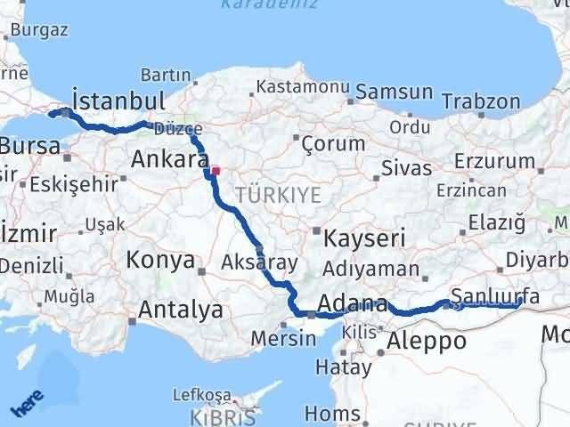 Mardin Büyükçekmece İstanbul Arası Kaç Km? Arası Kaç Km Saat? Nerede Yol Haritası Yakıt, Rota ve Mesafe Hesaplama