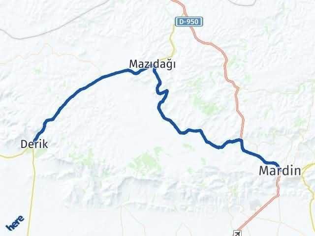 Mardin Derik Arası Kaç Km? Yol Haritası - Km Hesaplama Arası Kaç Km Saat? Nerede Yol Haritası Yakıt, Rota ve Mesafe Hesaplama