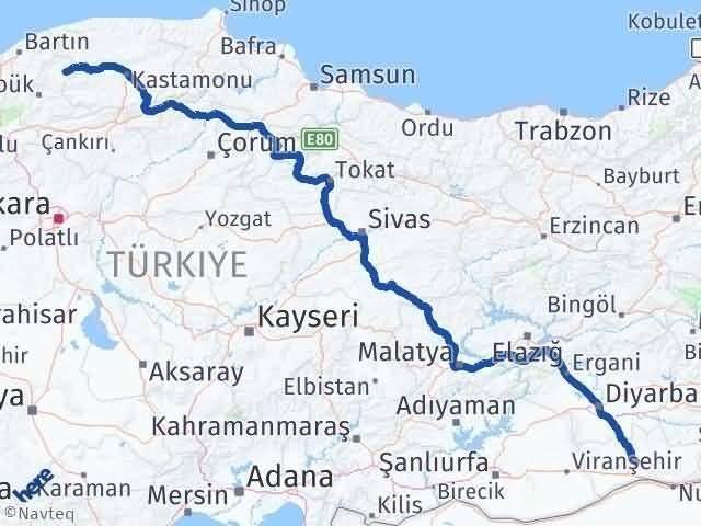 Mardin Eflani Karabük Arası Kaç Km? - Kmhesaplama.com Arası Kaç Km Saat? Nerede Yol Haritası Yakıt, Rota ve Mesafe Hesaplama