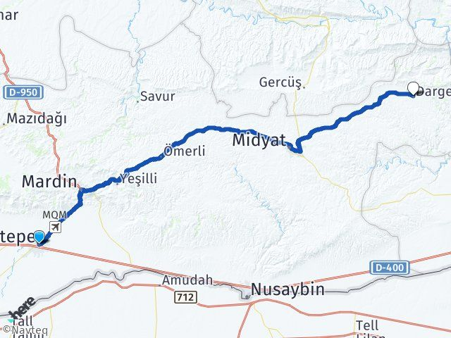 Mardin Kızıltepe Dargeçit Arası Kaç Km? Arası Kaç Km Saat? Nerede Yol Haritası Yakıt, Rota ve Mesafe Hesaplama