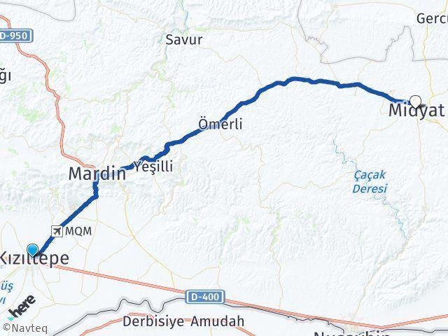 Mardin Kızıltepe Midyat Arası Kaç Km? Arası Kaç Km Saat? Nerede Yol Haritası Yakıt, Rota ve Mesafe Hesaplama