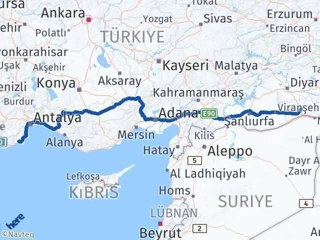 Mardin Kumluca Antalya Arası Kaç Km? - Kmhesaplama.com Arası Kaç Km Saat? Nerede Yol Haritası Yakıt, Rota ve Mesafe Hesaplama