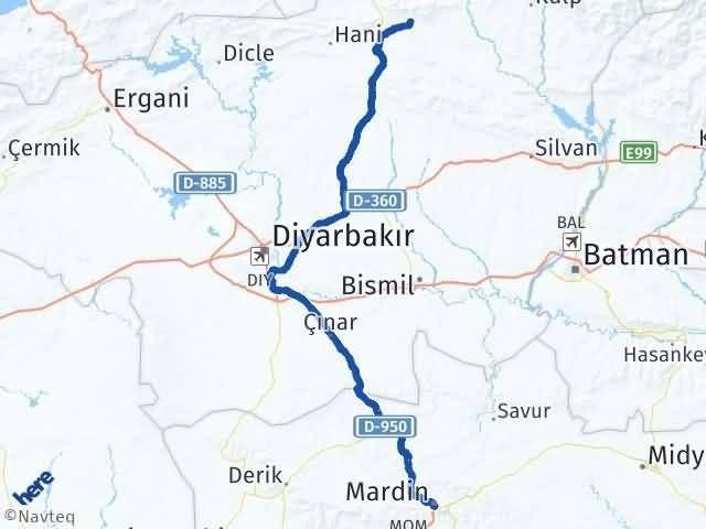 Mardin Lice Diyarbakır Arası Kaç Km? - Kmhesaplama.com Arası Kaç Km Saat? Nerede Yol Haritası Yakıt, Rota ve Mesafe Hesaplama