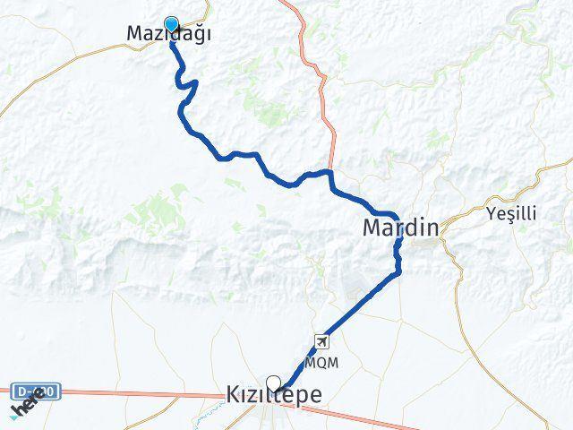 Mardin Mazıdağı Kızıltepe Arası Kaç Km? Arası Kaç Km Saat? Nerede Yol Haritası Yakıt, Rota ve Mesafe Hesaplama