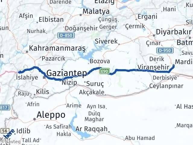 Mardin Nurdağı Gaziantep Arası Kaç Km? - Kmhesaplama.com Arası Kaç Km Saat? Nerede Yol Haritası Yakıt, Rota ve Mesafe Hesaplama