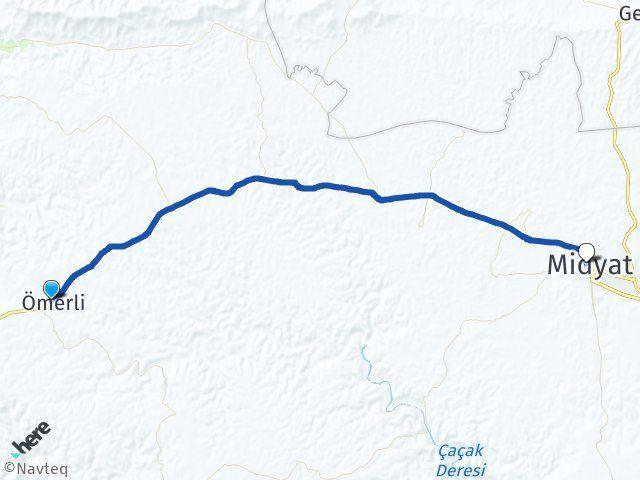 Mardin Ömerli Midyat Arası Kaç Km? Arası Kaç Km Saat? Nerede Yol Haritası Yakıt, Rota ve Mesafe Hesaplama