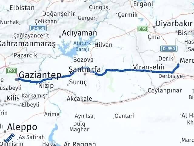 Mardin Şehitkamil Gaziantep Arası Kaç Km? - Kmhesaplama.com Arası Kaç Km Saat? Nerede Yol Haritası Yakıt, Rota ve Mesafe Hesaplama