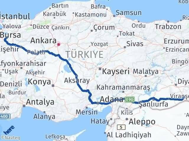 Mardin Yenişehir Bursa Arası Kaç Km? - Kmhesaplama.com Arası Kaç Km Saat? Nerede Yol Haritası Yakıt, Rota ve Mesafe Hesaplama
