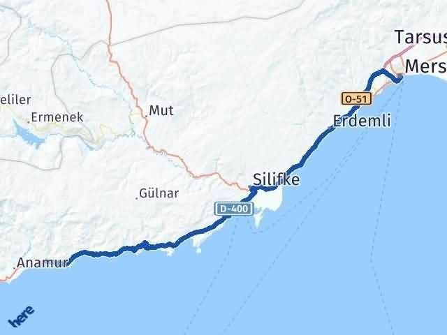 Mersin Bozyazı Arası Kaç Km? Yol Haritası - Km Hesaplama Arası Kaç Km Saat? Nerede Yol Haritası Yakıt, Rota ve Mesafe Hesaplama