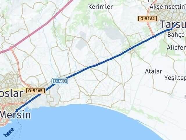 Mersin Tarsus Arası Kaç Km? Yol Haritası - Km Hesaplama Arası Kaç Km Saat? Nerede Yol Haritası Yakıt, Rota ve Mesafe Hesaplama