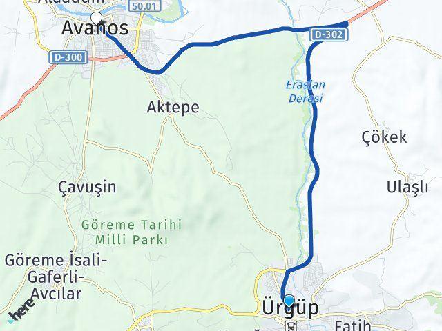 Nevşehir Ürgüp Avanos Arası Kaç Km? Arası Kaç Km Saat? Nerede Yol Haritası Yakıt, Rota ve Mesafe Hesaplama