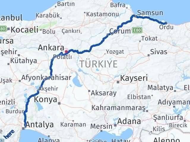Ordu Aksu Antalya Arası Kaç Km? - Kmhesaplama.com Arası Kaç Km Saat? Nerede Yol Haritası Yakıt, Rota ve Mesafe Hesaplama