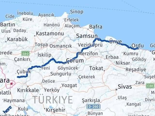 Ordu Akyurt Ankara Arası Kaç Km? - Kmhesaplama.com Arası Kaç Km Saat? Nerede Yol Haritası Yakıt, Rota ve Mesafe Hesaplama