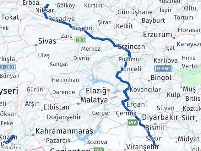 Ordu Aybastı Mardin Arası Kaç Km? Arası Kaç Km Saat? Nerede Yol Haritası Yakıt, Rota ve Mesafe Hesaplama