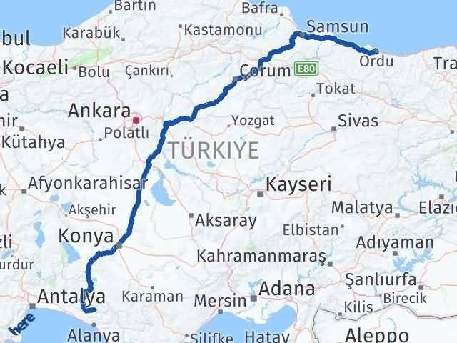 Ordu Gündoğmuş Antalya Arası Kaç Km? - Kmhesaplama.com Arası Kaç Km Saat? Nerede Yol Haritası Yakıt, Rota ve Mesafe Hesaplama