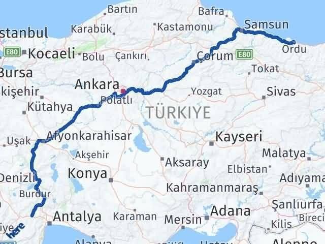 Ordu Korkuteli Antalya Arası Kaç Km? - Kmhesaplama.com Arası Kaç Km Saat? Nerede Yol Haritası Yakıt, Rota ve Mesafe Hesaplama