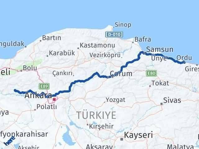 Ordu Nallıhan Ankara Arası Kaç Km? - Kmhesaplama.com Arası Kaç Km Saat? Nerede Yol Haritası Yakıt, Rota ve Mesafe Hesaplama