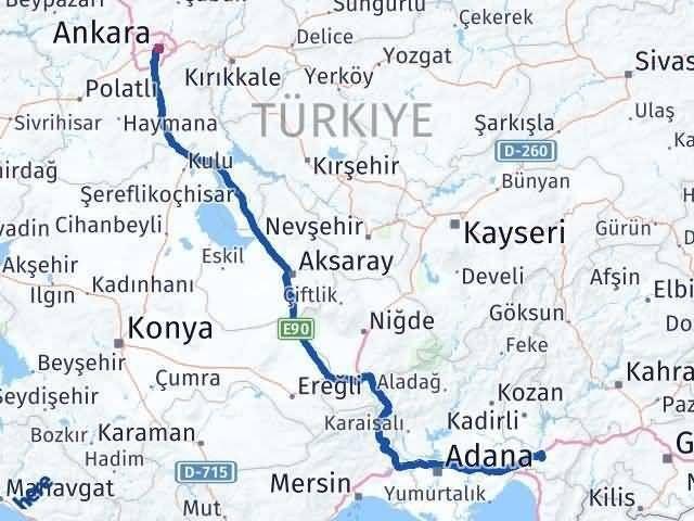 Osmaniye Ankara Arası Kaç Km - Kaç Saat? Arası Kaç Km Saat? Nerede Yol Haritası Yakıt, Rota ve Mesafe Hesaplama