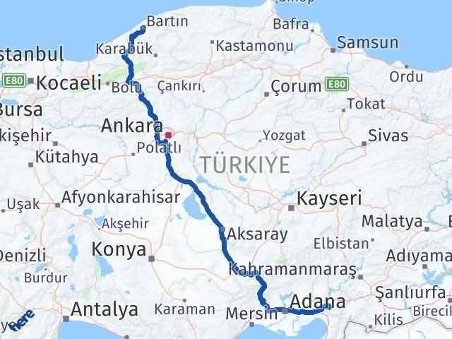 Osmaniye Bartın Arası Kaç Km - Kaç Saat? Arası Kaç Km Saat? Nerede Yol Haritası Yakıt, Rota ve Mesafe Hesaplama