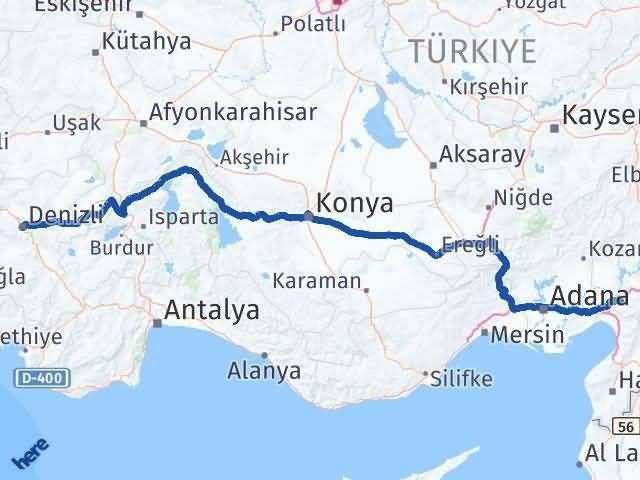 Osmaniye Denizli Arası Kaç Km - Kaç Saat? Arası Kaç Km Saat? Nerede Yol Haritası Yakıt, Rota ve Mesafe Hesaplama