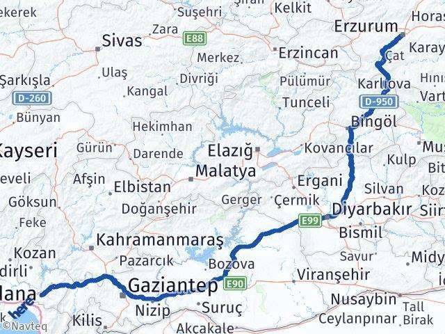 Osmaniye Erzurum Arası Kaç Km - Kaç Saat? Arası Kaç Km Saat? Nerede Yol Haritası Yakıt, Rota ve Mesafe Hesaplama