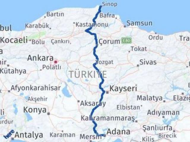 Sinop ile Adana Arası Kaç Km? Kaç Saat? - Kmhesaplama.com Arası Kaç Km Saat? Nerede Yol Haritası Yakıt, Rota ve Mesafe Hesaplama