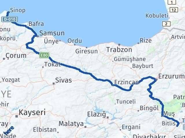 Sinop ile Bitlis Arası Kaç Km? Kaç Saat? - Kmhesaplama.com Arası Kaç Km Saat? Nerede Yol Haritası Yakıt, Rota ve Mesafe Hesaplama