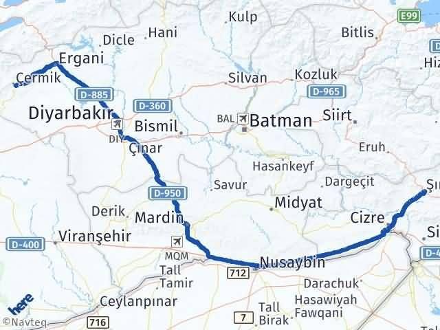 Şırnak Çermik Diyarbakır Arası Kaç Km? - Kmhesaplama.com Arası Kaç Km Saat? Nerede Yol Haritası Yakıt, Rota ve Mesafe Hesaplama