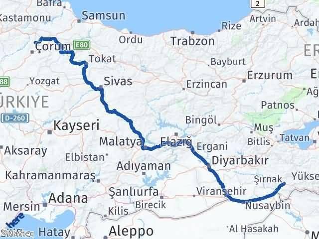 Şırnak Hamamözü Amasya Arası Kaç Km? - Kmhesaplama.com Arası Kaç Km Saat? Nerede Yol Haritası Yakıt, Rota ve Mesafe Hesaplama