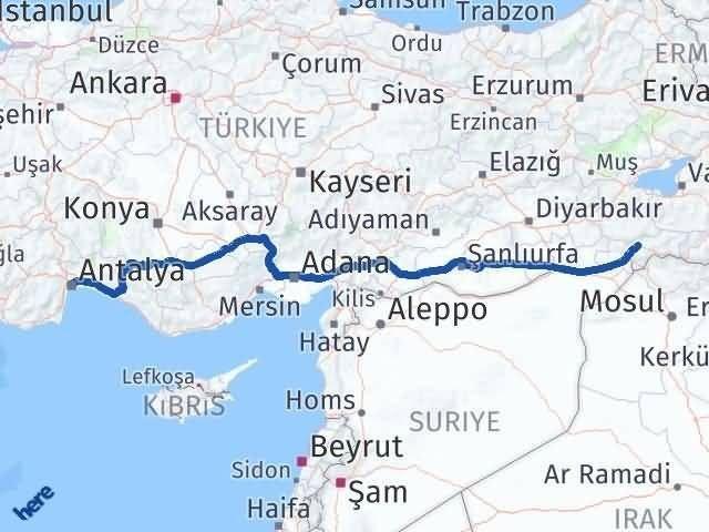 Şırnak Muratpaşa Antalya Arası Kaç Km? - Kmhesaplama.com Arası Kaç Km Saat? Nerede Yol Haritası Yakıt, Rota ve Mesafe Hesaplama