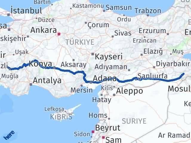 Şırnak Sarayköy Denizli Arası Kaç Km? - Kmhesaplama.com Arası Kaç Km Saat? Nerede Yol Haritası Yakıt, Rota ve Mesafe Hesaplama