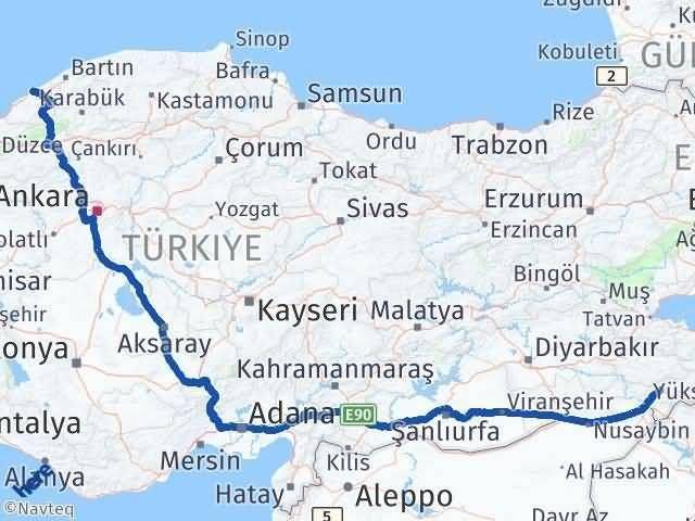 Şırnak Zonguldak Arası Kaç Km? Kaç Saat? - Km hesaplama Arası Kaç Km Saat? Nerede Yol Haritası Yakıt, Rota ve Mesafe Hesaplama