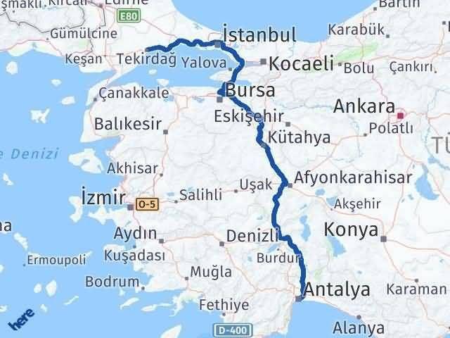 Tekirdağ ile Antalya Arası Kaç Km? Kaç Saat? Arası Kaç Km Saat? Nerede Yol Haritası Yakıt, Rota ve Mesafe Hesaplama