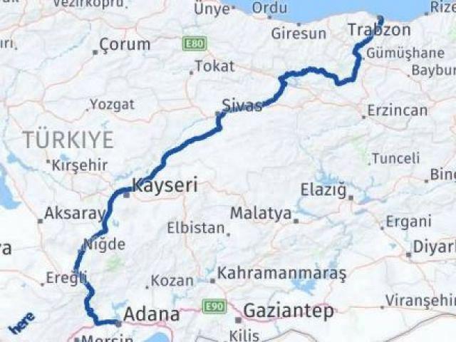 Trabzon Adana Arası Kaç Km? Kaç Saat? - Km hesaplama Arası Kaç Km Saat? Nerede Yol Haritası Yakıt, Rota ve Mesafe Hesaplama