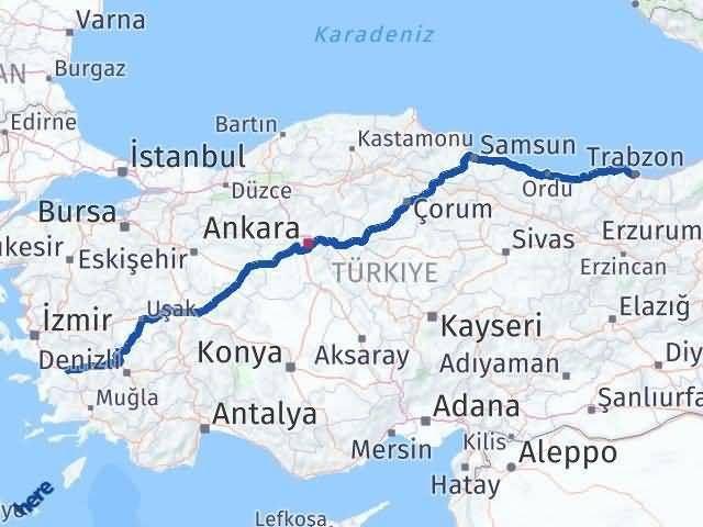 Trabzon Aydın Arası Kaç Km? Kaç Saat? - Km hesaplama Arası Kaç Km Saat? Nerede Yol Haritası Yakıt, Rota ve Mesafe Hesaplama