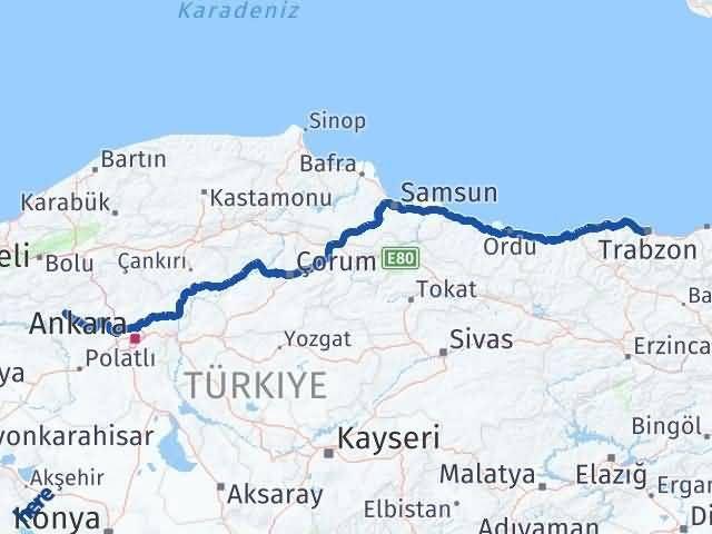 Trabzon Beypazarı Arası Kaç Km? Arası Kaç Km Saat? Nerede Yol Haritası Yakıt, Rota ve Mesafe Hesaplama