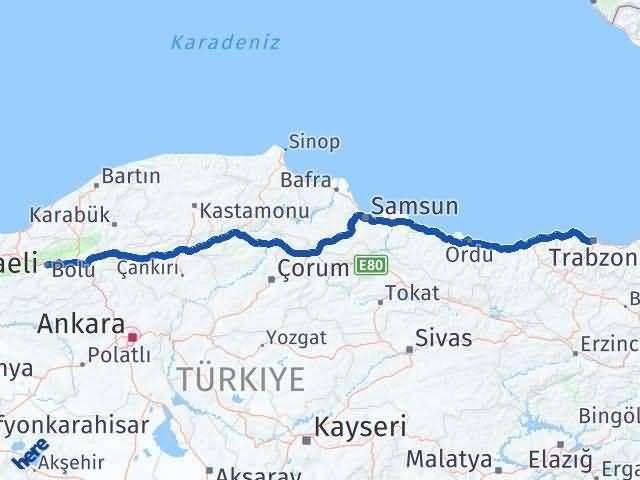 Trabzon ile Bolu Arası Kaç Km? Kaç Saat? - Kmhesaplama.com Arası Kaç Km Saat? Nerede Yol Haritası Yakıt, Rota ve Mesafe Hesaplama
