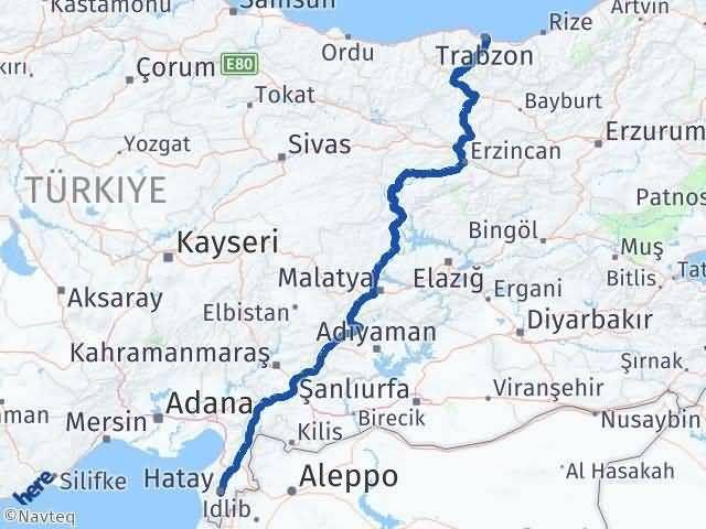 Trabzon ile Hatay Arası Kaç Km? Kaç Saat? - Kmhesaplama.com Arası Kaç Km Saat? Nerede Yol Haritası Yakıt, Rota ve Mesafe Hesaplama