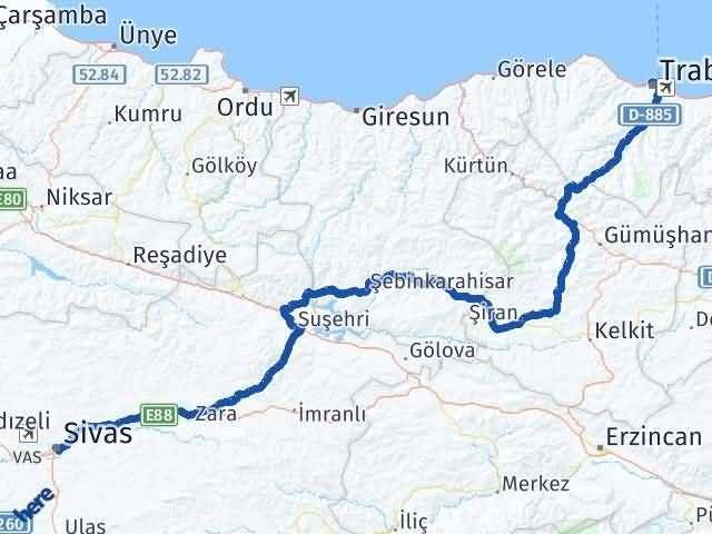 Trabzon ile Sivas Arası Kaç Km? Kaç Saat? - Kmhesaplama.com Arası Kaç Km Saat? Nerede Yol Haritası Yakıt, Rota ve Mesafe Hesaplama