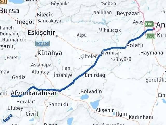 Uşak Ankara Arası Kaç Km - Kaç Saat? Arası Kaç Km Saat? Nerede Yol Haritası Yakıt, Rota ve Mesafe Hesaplama