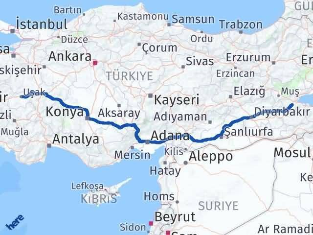 Uşak ile Bitlis Arası Kaç Km? Kaç Saat? - Kmhesaplama.com Arası Kaç Km Saat? Nerede Yol Haritası Yakıt, Rota ve Mesafe Hesaplama