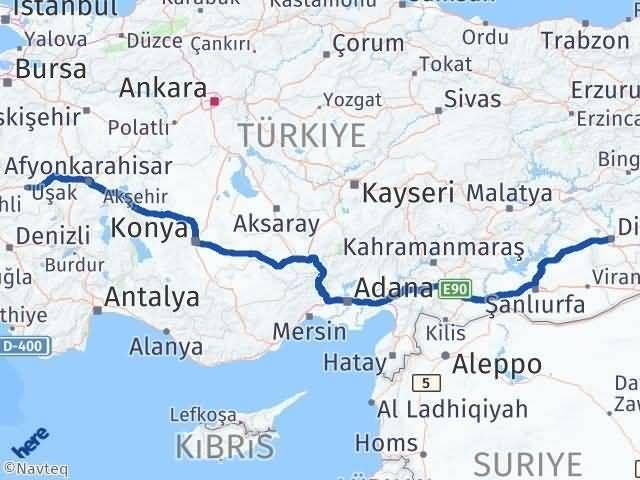 Uşak ile Diyarbakır Arası Kaç Km? Kaç Saat? Arası Kaç Km Saat? Nerede Yol Haritası Yakıt, Rota ve Mesafe Hesaplama