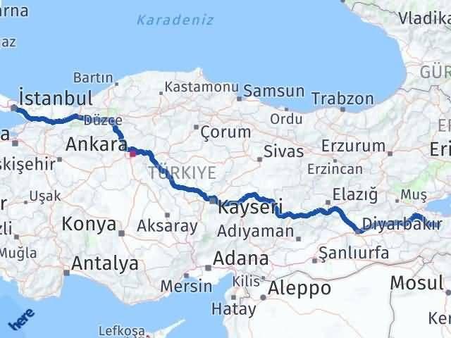 Van Bahçesaray İstanbul Arası Kaç Km? Arası Kaç Km Saat? Nerede Yol Haritası Yakıt, Rota ve Mesafe Hesaplama